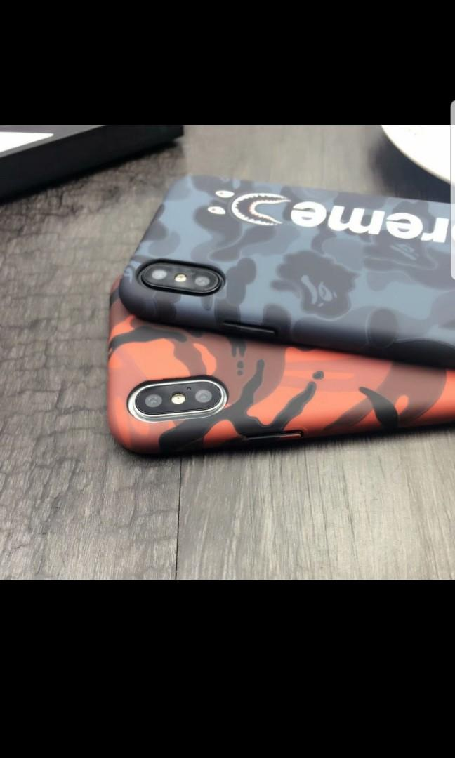 Supreme bape iphone case