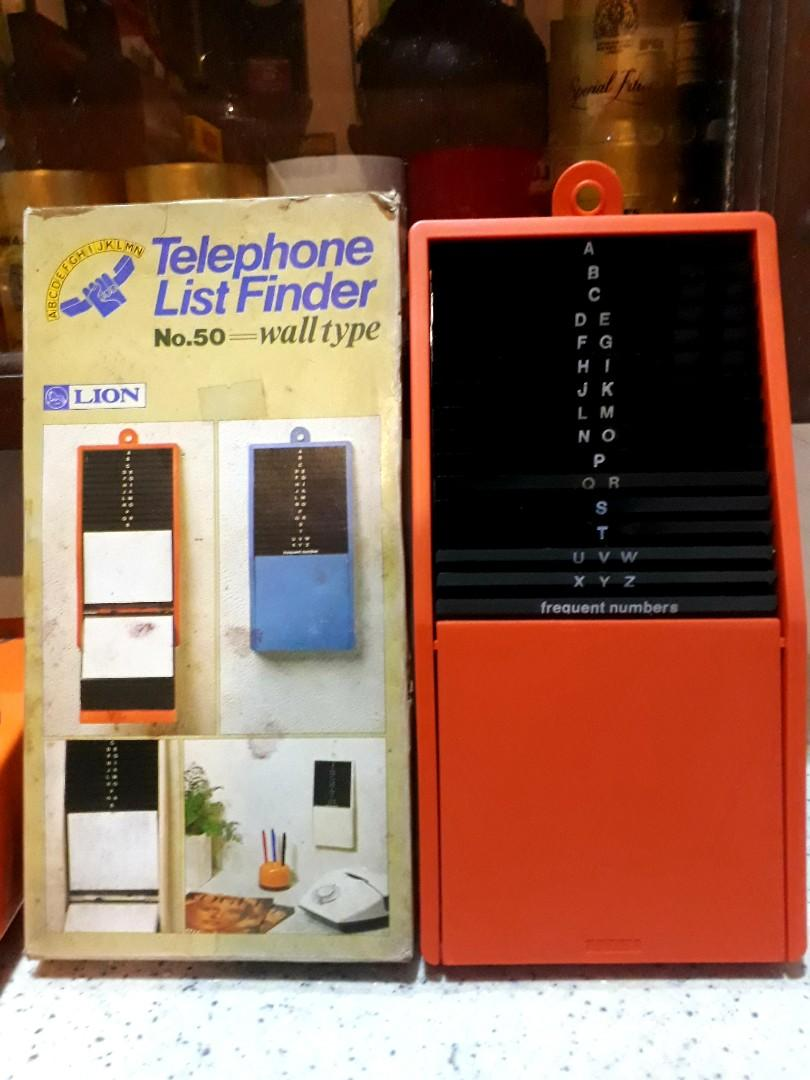 Telephone list finder