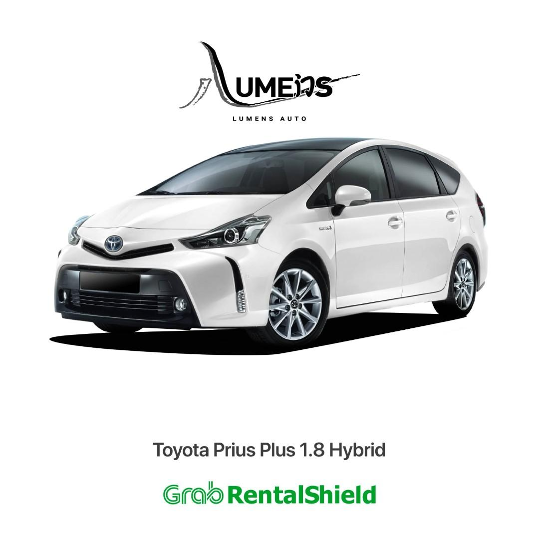 Toyota Prius Plus the 7 Seaters MPV Car for Grab/Gojek