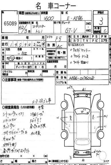 TOYOTA SPRINTER AE86