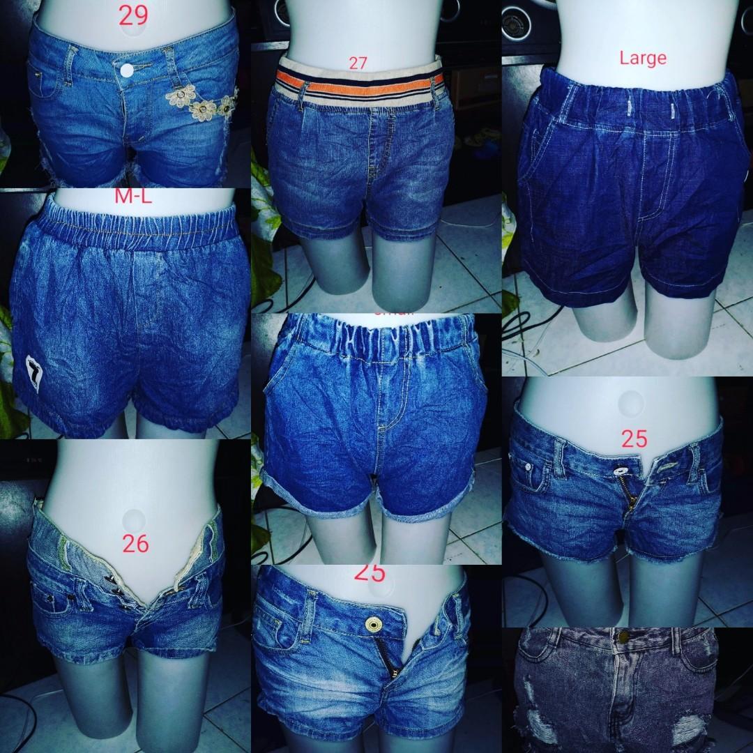Womens branded preloved denim shorts 10 pcs for only $80