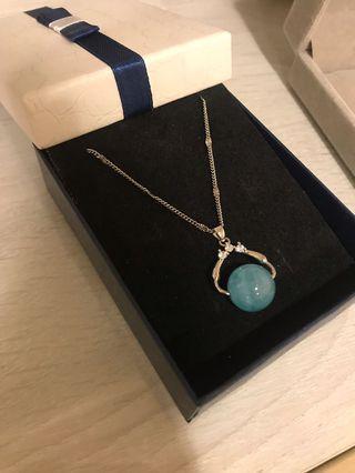 藍鑽珠項鍊