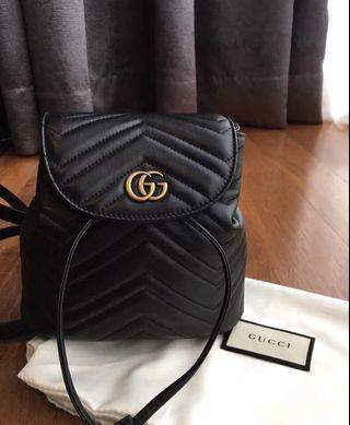 Authentic gucci marmont backpack