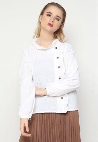 White shirt ruffles
