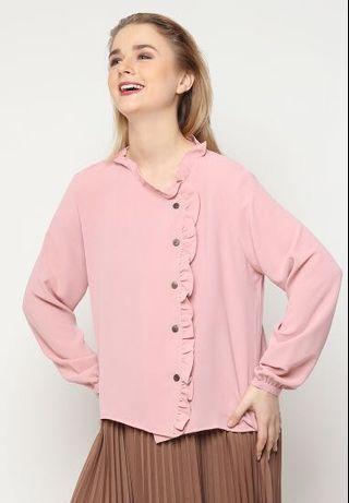 Pink shirt ruffles