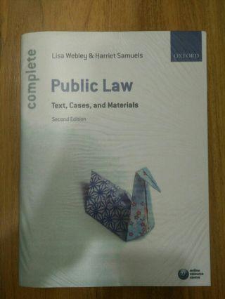 Public law - Lisa Webley (6th edition)