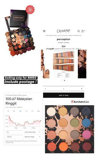 Colourpop Perception Eyeshadow Palette Include Postage