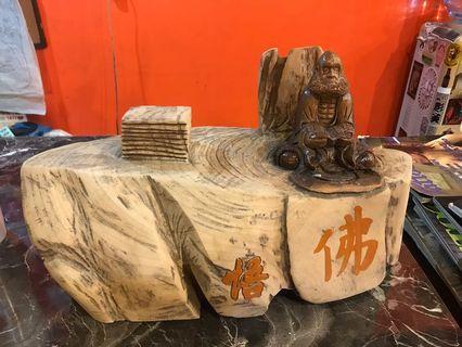 達摩木雕3個3000