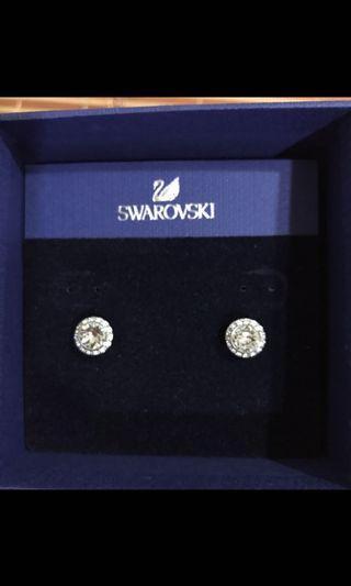 Swerovski水晶耳環