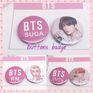 BTS buttons badge