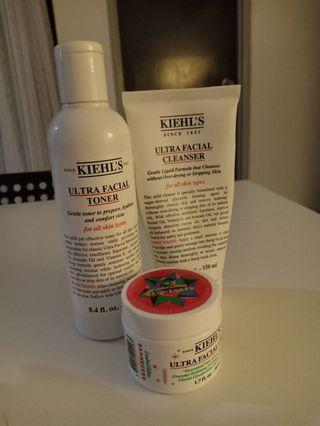 Kiehl's Ultra Facial Toner, Cleanser & Cream