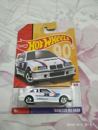 Hot Wheels BMW E36 M3 Race Target Exclusive Throwback Series