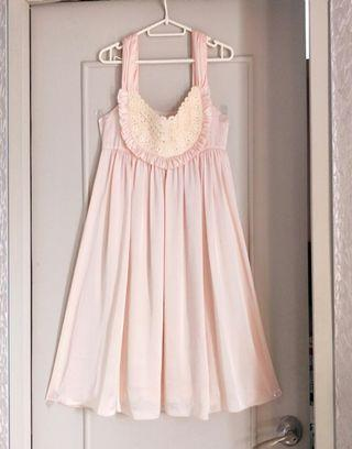 HQ Flowy Peach Dress