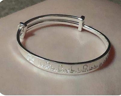 正生兒童銀手環