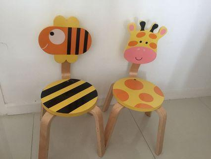 Children animal chair (price for 2 chairs)