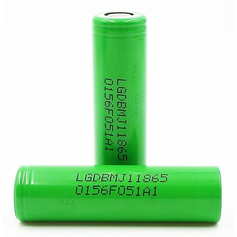 100% LG MJ1 3500mAh, 10A Flat Top- rechargeable battery