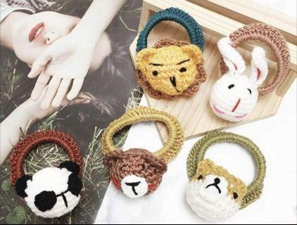韓國🇰🇷針織髮飾 動物髮圈 單個