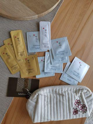 Sulwhasoo samples n cosmetic bag