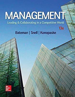 [全新] Management Leading&Collaborating 13e Bateman 管理學原文書