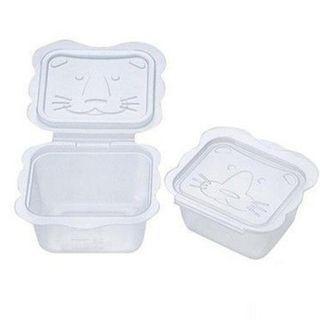 (全新)卡通型離乳食分裝盒-150mlx6個入