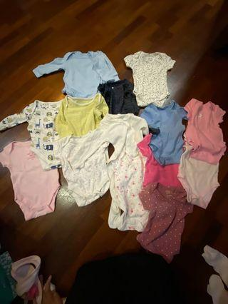 0-3 months bodysuits and more