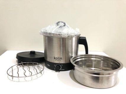【歌林Kolin】多功能不鏽鋼單柄美食鍋(KPK-MN003)