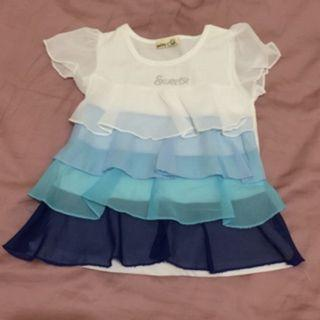 女童藍色上衣7號