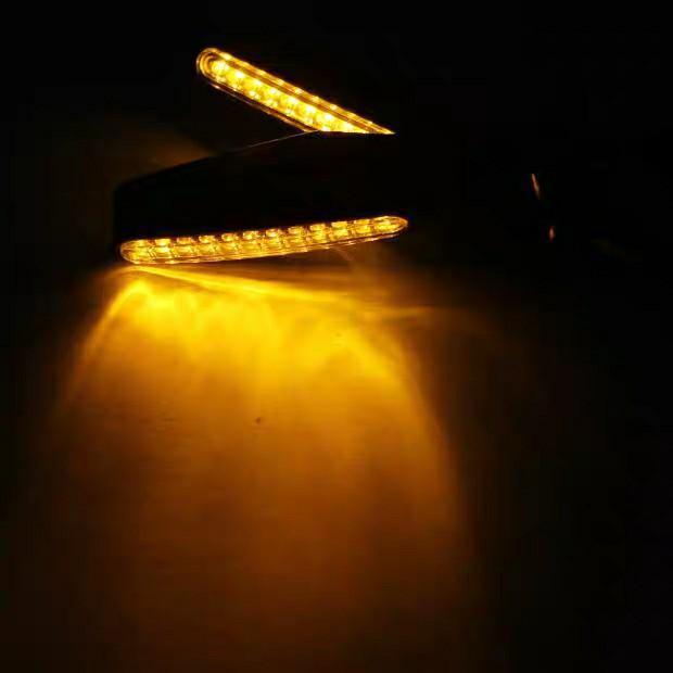 摩托車12LED流水信號轉向燈2個裝黃色