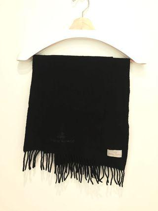二手 Vivienne Westwood 經典黑 圍巾