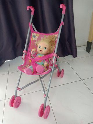 METTAL DOLL STROLLER with (free doll)