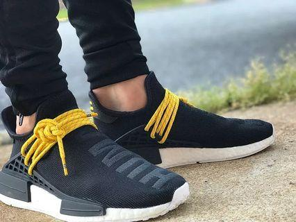 愛迪達Adidas x 菲董Hu NMD初代黑休閒運動鞋 (US6.5)