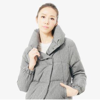 羽絨衣 厚外套 太空衣 灰 保暖  外套 歐洲帶回 #五折清衣櫃
