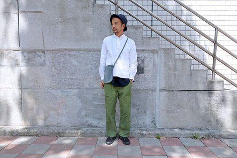 PLAIN-ME 水洗棉質多口袋軍褲 黑色 綠色各一