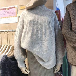「R」高領毛線針織衫(預購)