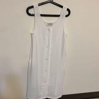 韓版全新無袖洋裝/可當外罩