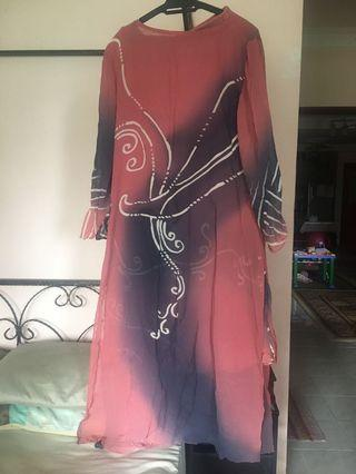Batik Long Kurung Moden