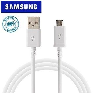 100% Samsung Adaptive Fast Charger Micro USB cable-Blk/Wht