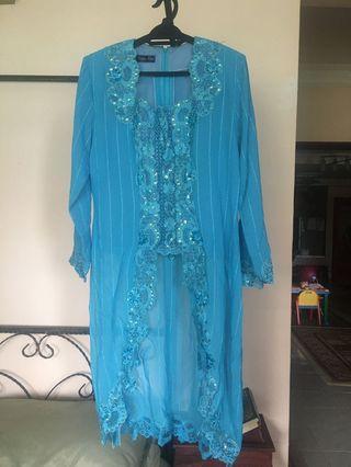 Blue Long Kebaya Top