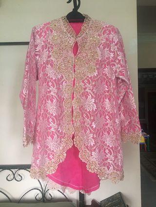 Lace Kebaya Top Pink