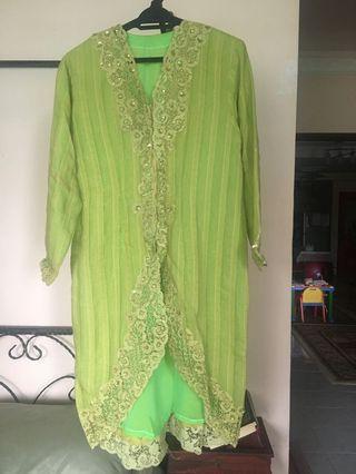 Green Long Kebaya Top