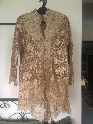 Brown Lace Kebaya Top