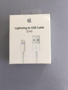 100% Apple Lightning Cable 2m- LONG CABLE- free mailing