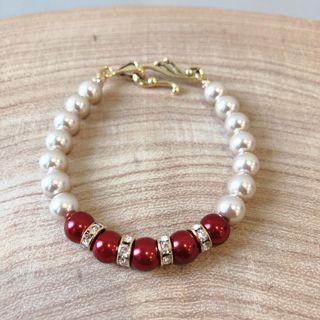 Gold & Red Bracelet