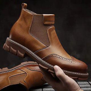 👞秋冬牛津雕花男士短靴👞$1680👞 👞#個性有型,雕花牛津靴,時尚百搭👞 👞#顏色:黃棕色,黑色👞 👞#尺碼:38~44👞