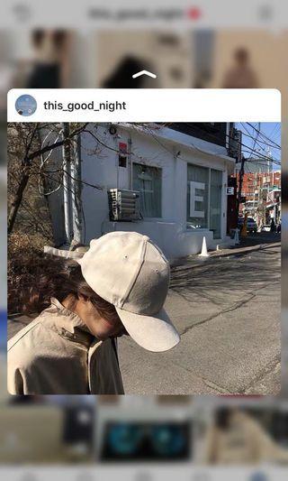 麂皮米色棒球帽🧢