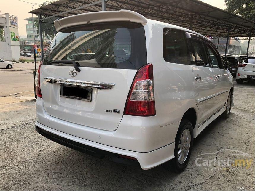 2011 Toyota Innova 2.0 G (A) Facelift Model One Owner Full Bodykit Crystal White.   http://wasap.my/601110315793/innova2011