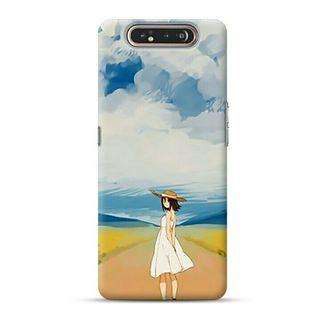 Girl In The Field Samsung Galaxy A80 Custom Hard Case