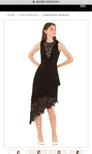 Double woot black dress S