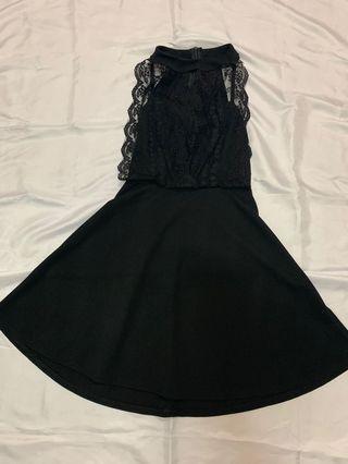 蕾絲a字洋裝