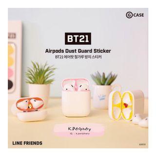【🇰🇷 PRE-ORDER 】  BT21 Airpods Dust Guard Sticker